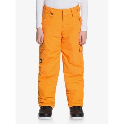 Chlapčenské lyžiarske/snowboardové nohavice Quiksilver Porter eqbtp03032 flame orange oranžové
