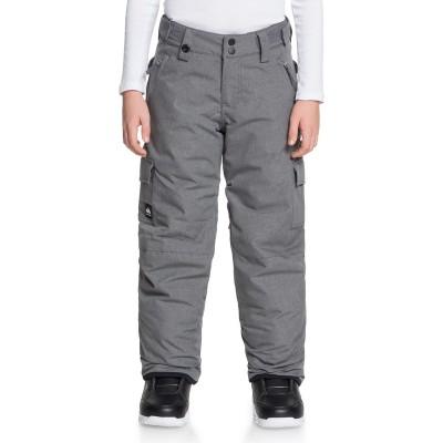 Chlapčenské lyžiarske/snowboardové nohavice Quiksilver Porter eqbtp03032 sivé