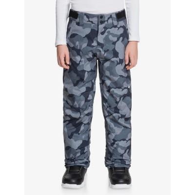 Chlapčenské lyžiarske/snowboardové nohavice Quiksilver Estate eqbtp03033 wichita čierne potlač
