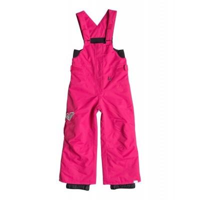 Roxy dievčenské lyžiarske nohavice Lola bib 10k ERLTP03000 mna0 ružové 3 roky