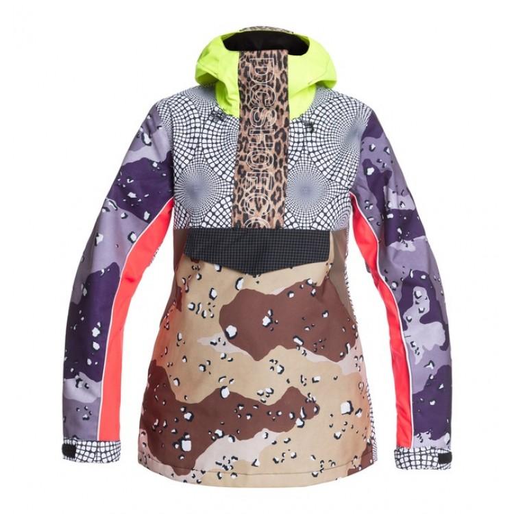 DC dámska lyžiarska/snowboardová bunda Envy Anorak adjtj03010 repurpose multi camo / opticool (xcsw) farebná potlač