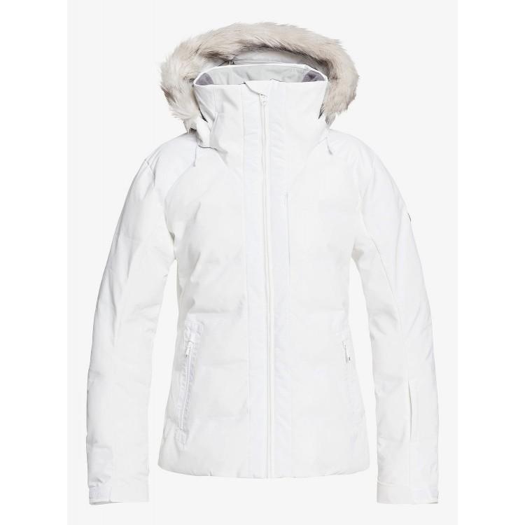 Roxy dámska bunda Clouded bright white erjtj03284 biela
