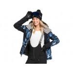 Roxy dámska bunda Jet Ski Premium blue striped leaves erjtj03261