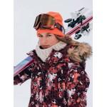 Roxy dámska bunda Jet Ski oxblood red leopard serjtj03265