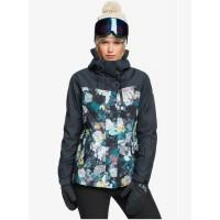 Roxy dámska lyžiarska/snowboardová bunda Jetty 3v1 erjtj03278-kvj1 true black sammy čierna s kvetmi