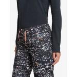 Dámske lyžiarske/snowboardové nohavice Roxy Nadia Printed erjtp03133 čierne