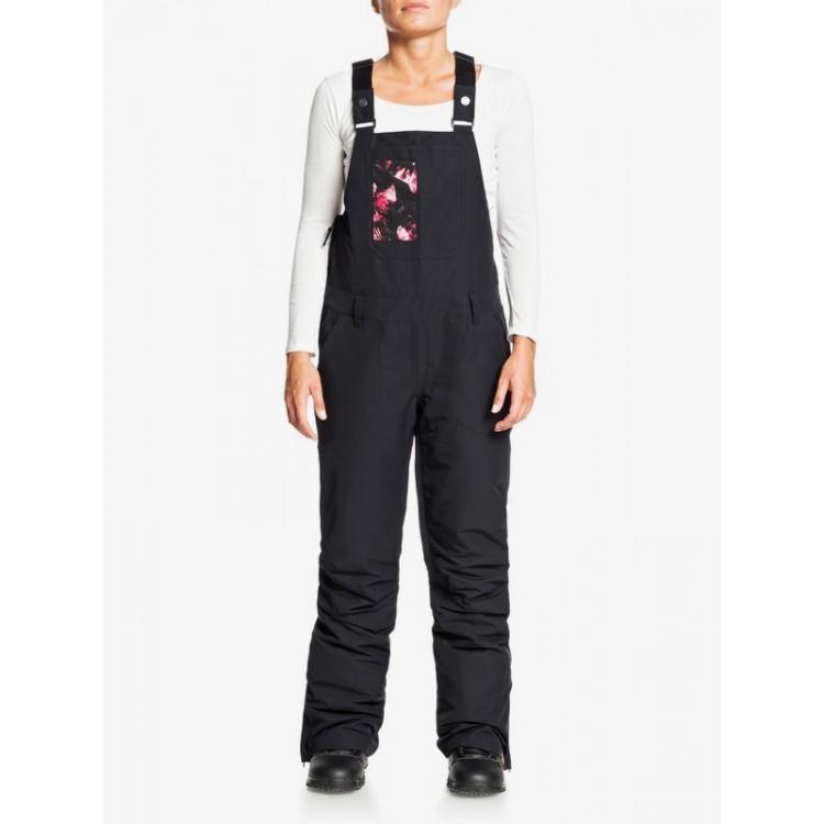 Dámske lyžiarske/snowboardové nohavice Roxy Rideout Snow Bib erjtp03116 true black čierne