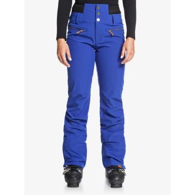 Dámske lyžiarske/snowboardové nohavice Roxy s vysokým pásom erjtp03118 modré