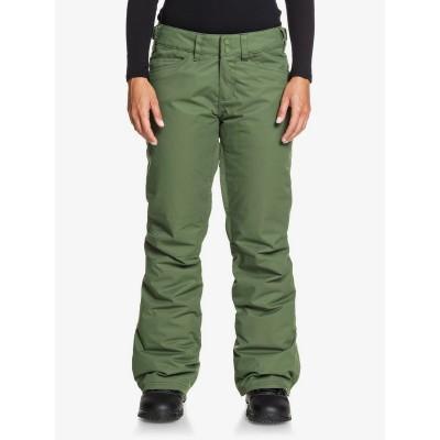 Dámske lyžiarske/snowboardové nohavice Roxy Backyard serjtp03127 zelené
