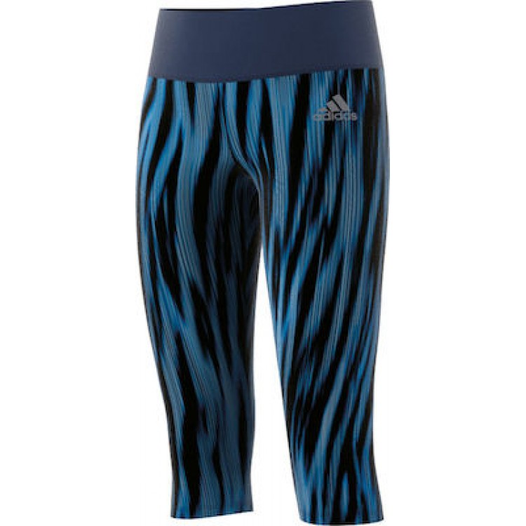 Dievčenské legíny 3/4 Adidas BK2928 modré
