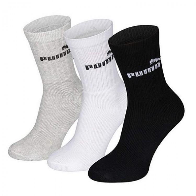 Detské ponožky Puma Crew 3-pack 291310 803 sivé, biele, čierne
