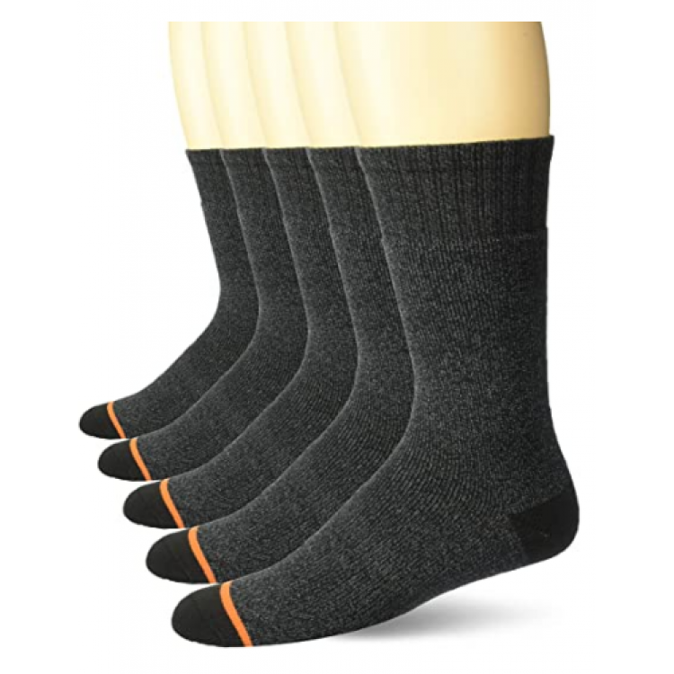 Ponožky Weatherproof Full Terry Thermal Crew 5-pack sivé