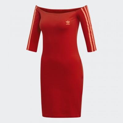 Šaty Adidas Originals Shoulder ED7522 červené
