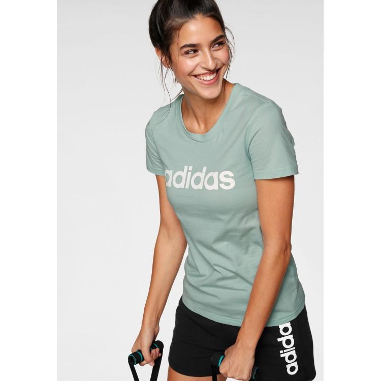 Dámske tričko Adidas Essentials Linear Slim FM6424 zelené