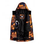 DC chlapčenská bunda Propaganda pill camo orange adbtj03001