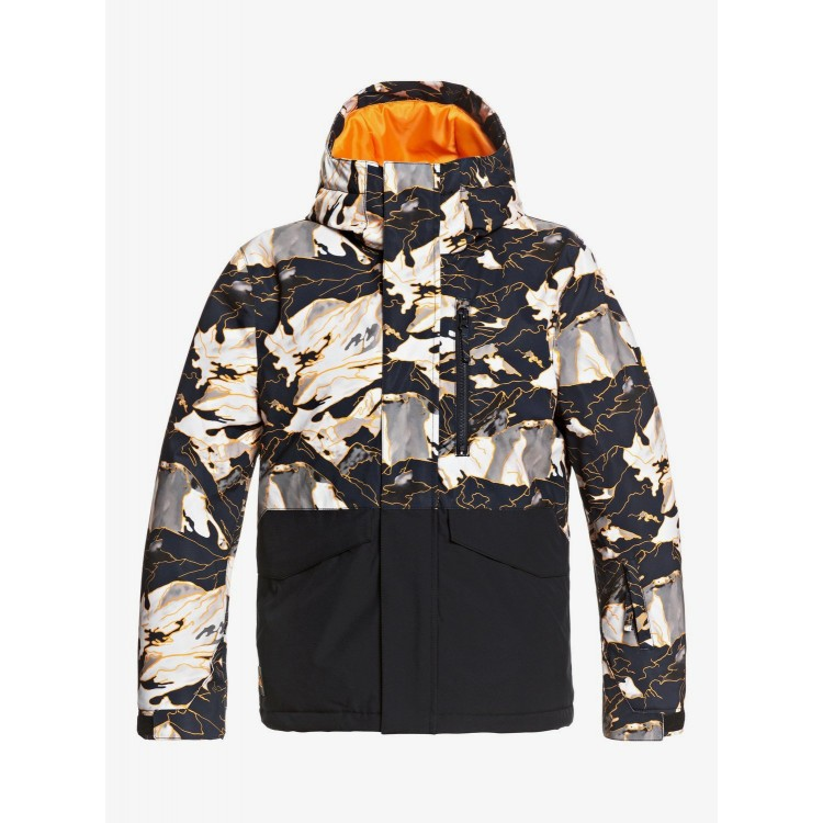 Quiksilver chlapčenská bunda Mission Block nature abstrakt seqbtj03119