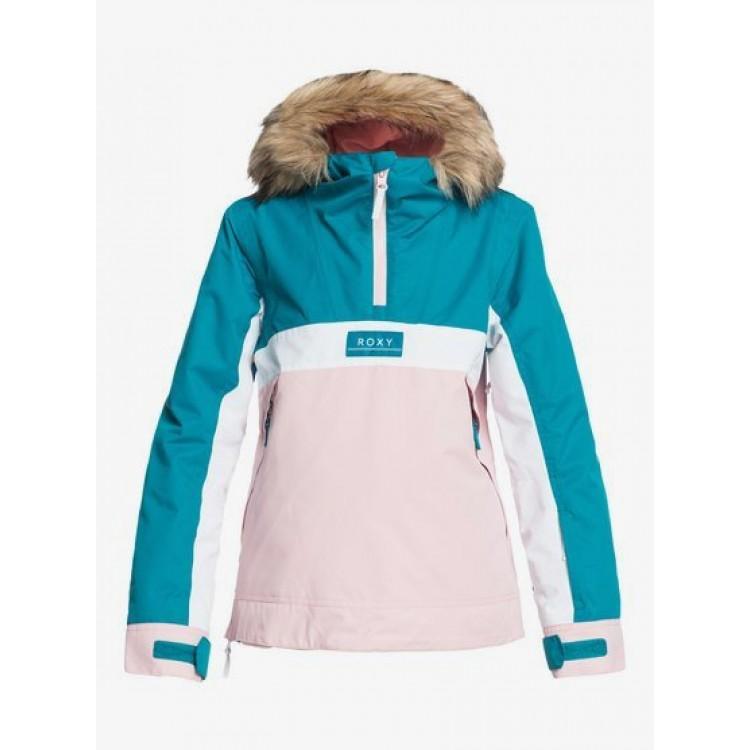 Roxy dievčenská bunda Shelter Snow ocean depths ergtj03097