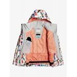 Roxy dievčenská bunda Jetty bright white magic carpet ergtj03101