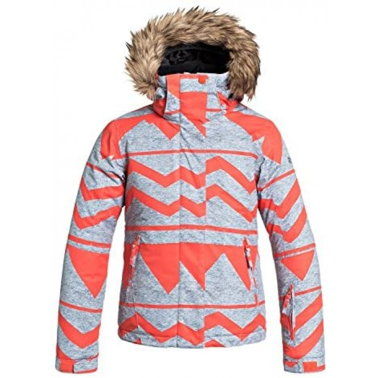 Roxy dievčenská bunda Jet Ski ergtj03000 orange gray