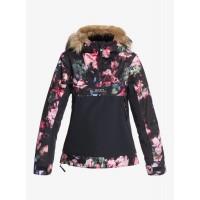 Roxy dievčenská bunda Shelter Snow true black blooming party ergtj03097