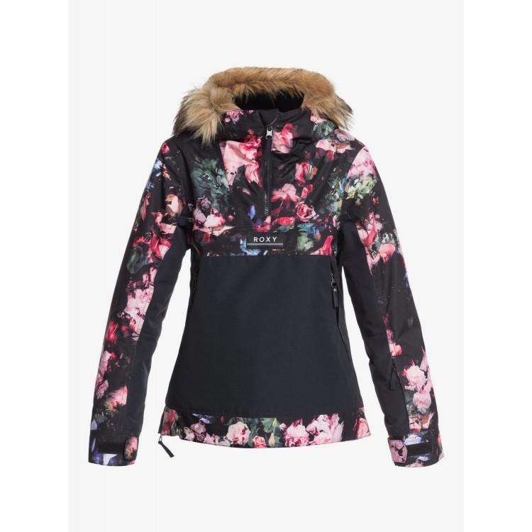Roxy dievčenská bunda Shelter Snow true black blooming party sergtj03097