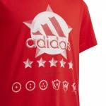 Chlapčenské tričko Adidas Performance fb Spacer GFX T fm4476 červené