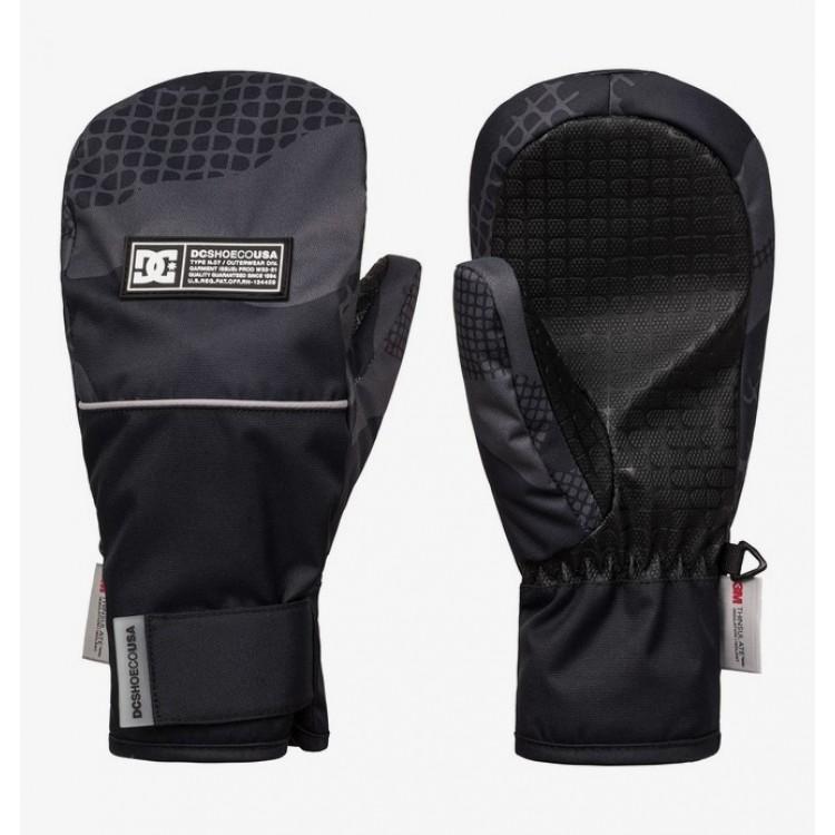 DC chlapčenské lyžiarske/snowboardové palčiaky Franchise adbhn03000 youth pill camo black čierne potlač