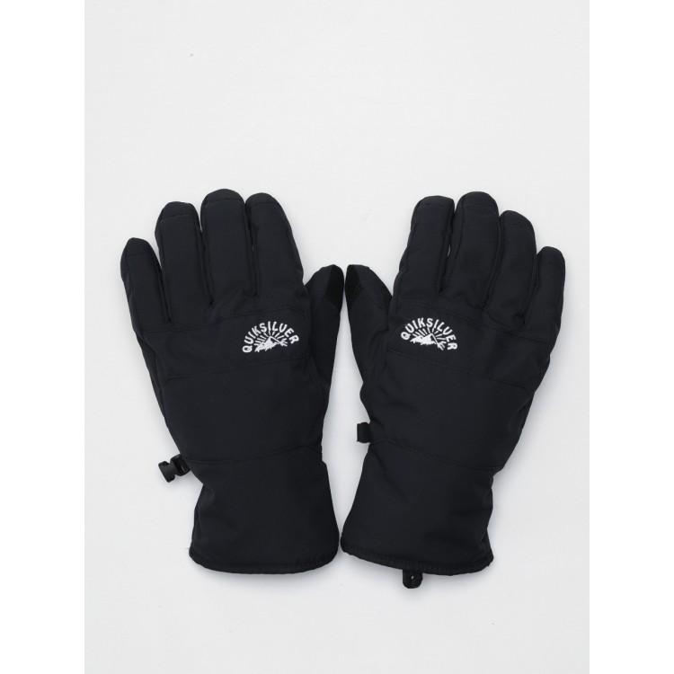 Quiksilver pánske lyžiarske/snowboardové rukavice Cross eqyhn03143 true black čierne