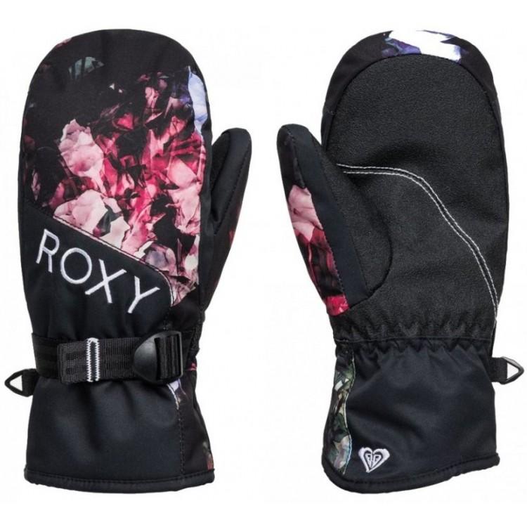 Roxy dámske lyžiarske/snowboardové palčiaky Jetty Mittens erjhn03164 true black blooming party čierne potlač