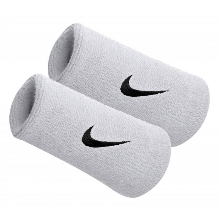 Potítka Nike Swoosh Wristbands Doublewide biela