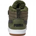 Puma Rebound Street SD Fur Inf 36787002 forest night black white