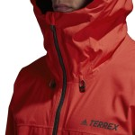 Pánska bunda Adidas Terrex Performance Swift Rain JKT DT4113 červená