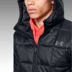 Pánska bunda Under Armour Insulated hooded Jacket 1342740 001 čierna
