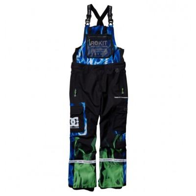 DC pánske lyžiarske/snowboardové nohavice Rokit Revival edytp03052 flames xkgb potlač