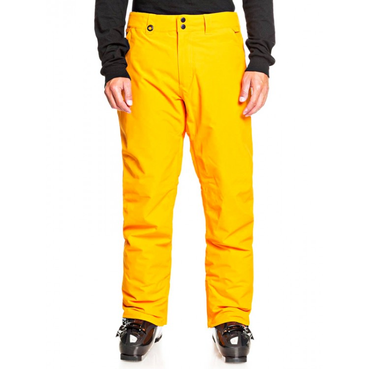 Quiksilver pánske lyžiarske/snowboardové nohavice Estate seqyto03146 flame orange oranžové