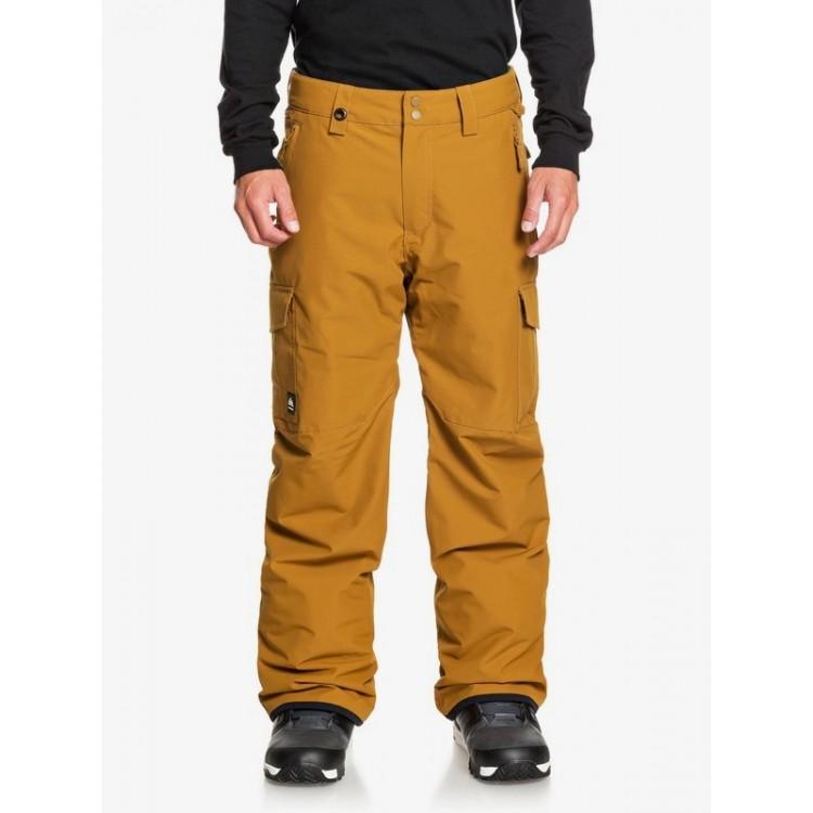 Quiksilver pánske lyžiarske/snowboardové nohavice Porter eqytp03145 bronze brown cqa0 hnedé