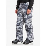 Quiksilver pánske lyžiarske/snowboardové nohavice Porter eqytp03145 tue black GPS point čierne potlač