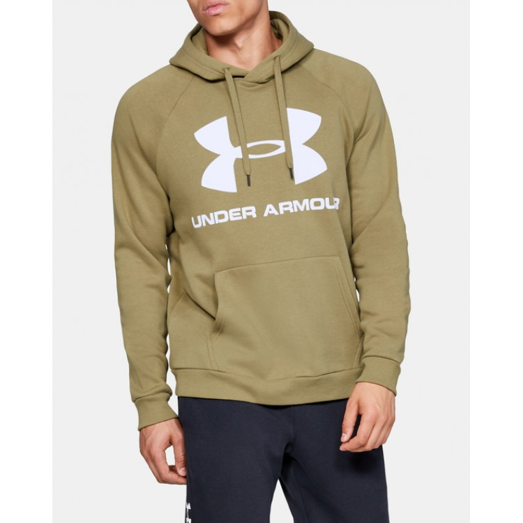 Pánska mikina Under Armour Rival Fleece Logo Hoodie 1345628 zelená
