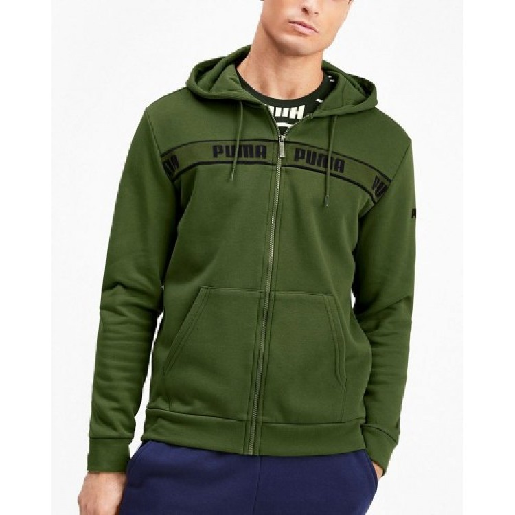 Puma pánska mikina Amplified Hooded Jacket FL 58043333 garden green
