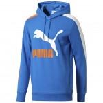 Puma pánska mikina Classics t7 logo Hoody TR 57841837 strong blue