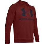 Pánska mikina Under Armour Rival Fleece Logo Hoodie 1345628-615 červená
