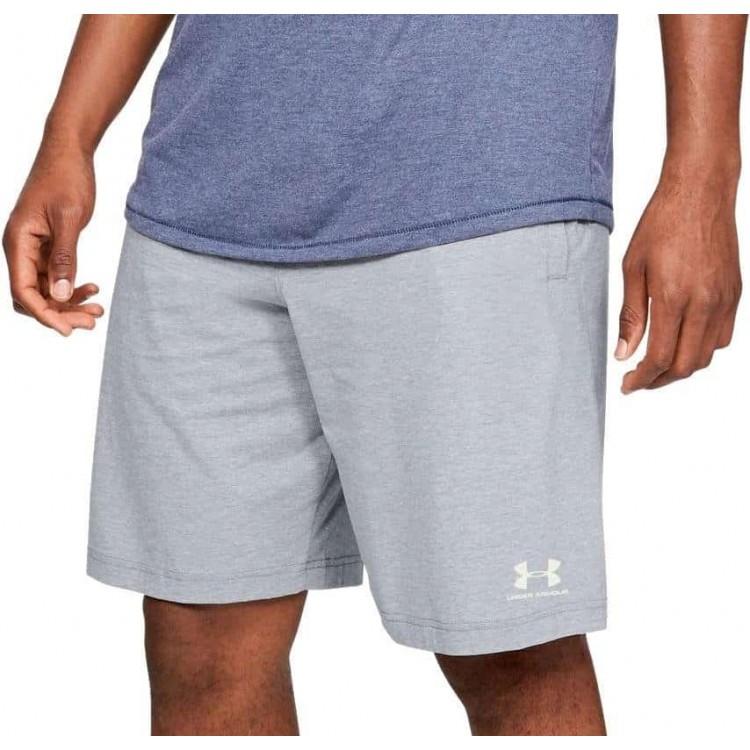 Pánske kraťasy Under Armour UA Sportstyle Cotton Short 1329299-035 sivá